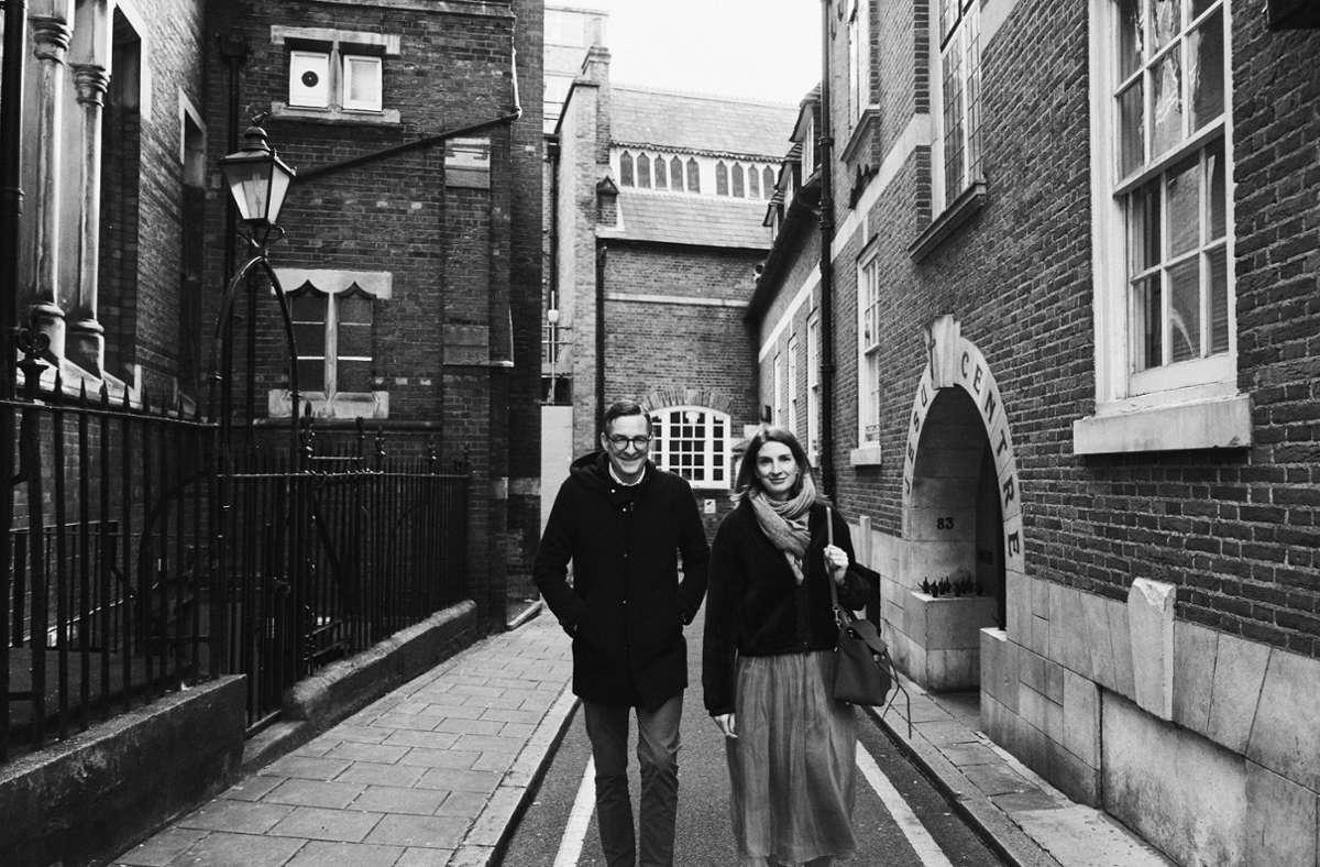 Das Ehepaar Leuthe in London. Foto: StZ Magazin/Benjamin McMahon