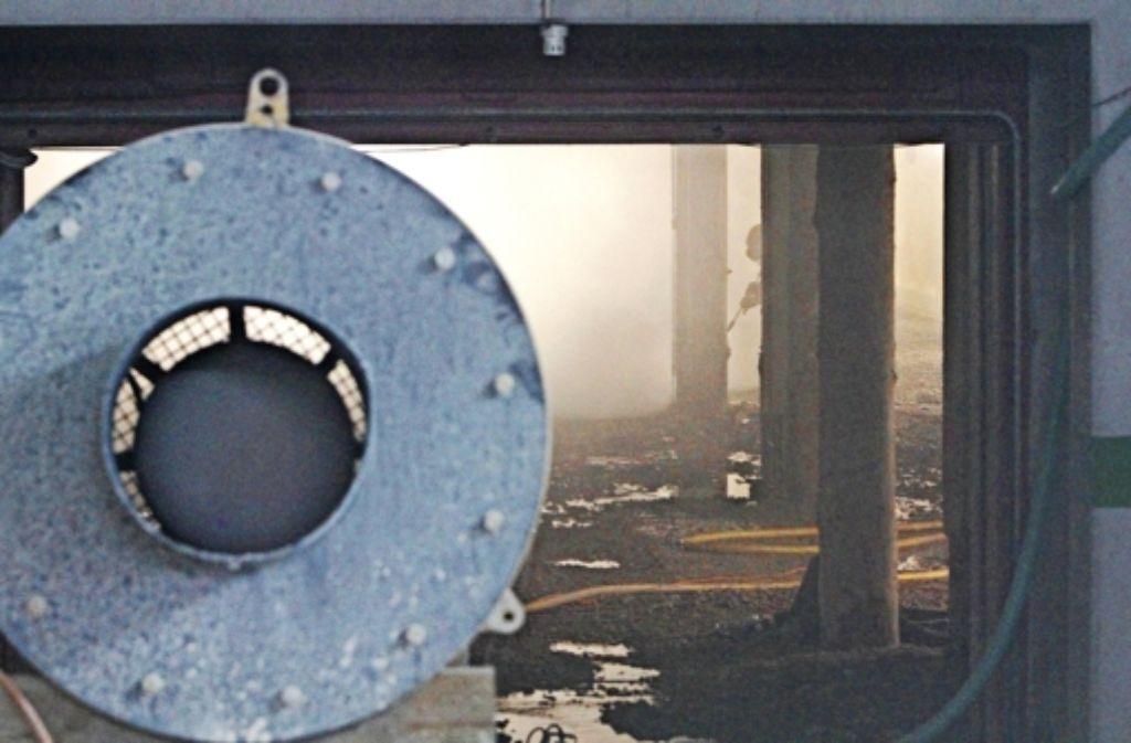 Wasserdampf trübt die Sicht auf der Baustelle unter Tage. Foto: