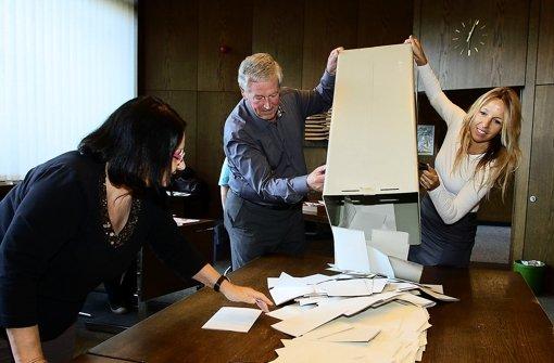 Die große Kreisstadt  wählt  konservativ