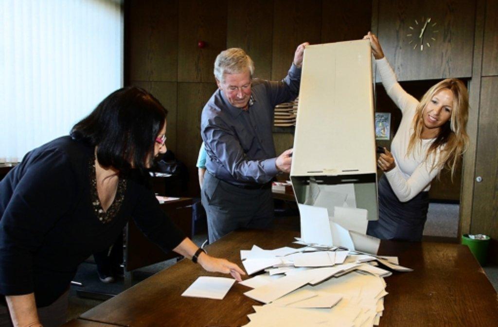 Die Wahlhelfer in Leonberg waren lange im Einsatz, es gab Probleme- Foto: factum/Bach