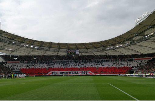 Diese Choreografie zeigten die VfB-Fans