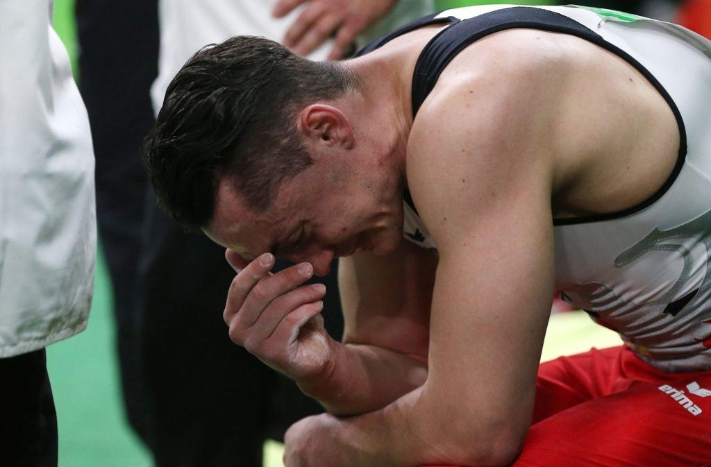 Heldenhafter Auftritt: Trotz schwerer Verletzung setzte Andreas Toba den Wettkampf fort. Foto: EPA