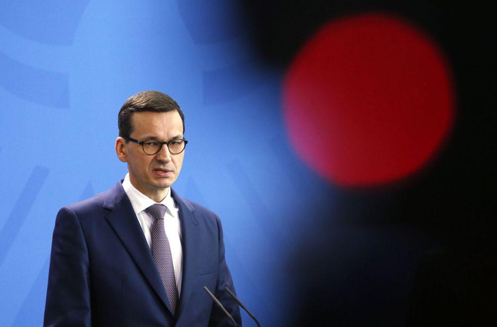 Der polnische Ministerpräsident Mateusz Morawiecki Foto: AP
