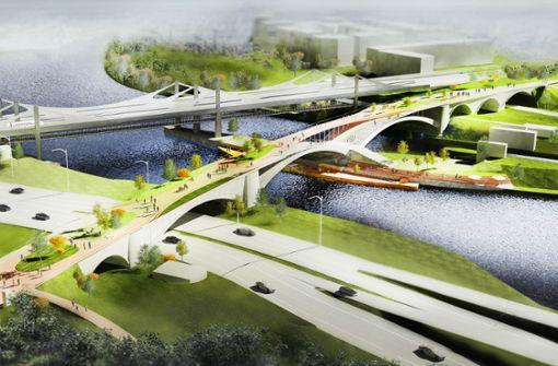 Neue Ideen für alte Neckar-Bahnbrücke