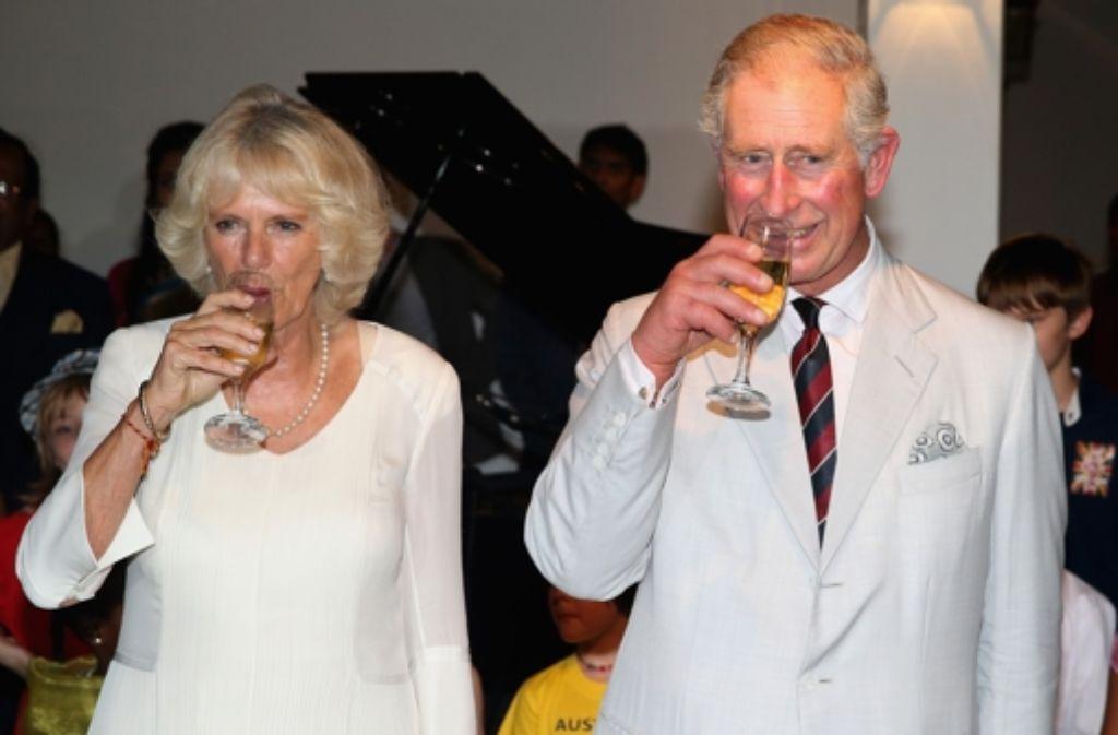 Seinen 65. Geburtstag feiert Prinz Charles in Indien - seine Frau Camilla stößt mit an. Foto: Getty Images AsiaPac