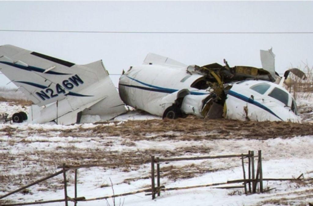 Das Flugzeug, mit dem Lapierre unterwegs war, brach beim Aufprall auseinander. Foto: The Canadian Press