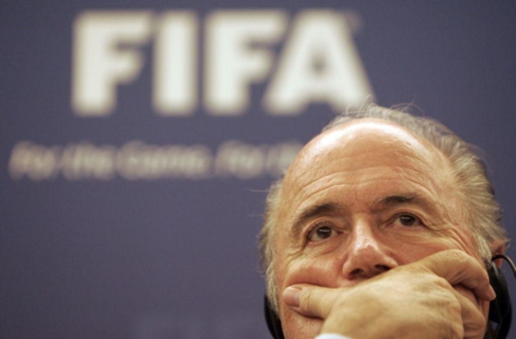 An der Spitze des Fußball-Weltverbands Fifa: Joseph Blatter. Foto: AP