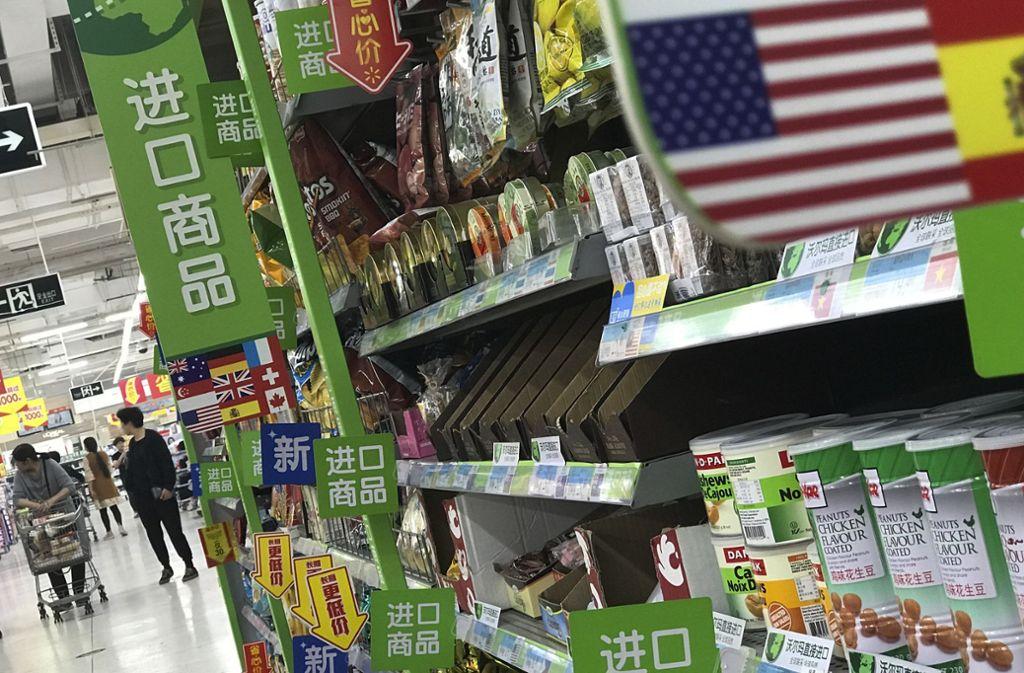 China will zusätzliche Zölle auf amerikanische Einfuhren erheben. Foto: AP