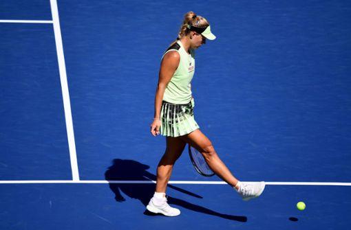 Angelique Kerber scheitert in der ersten Runde