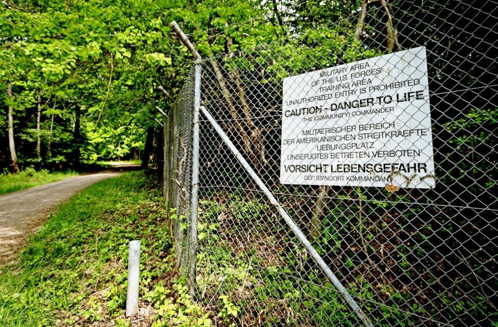 Im Wald bei Böblingen sind zwei offene Schießbahnen der US-Streitkräfte seit 1994 eine Belastung für die Bevölkerung. Foto: factum/Granville
