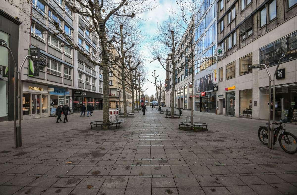 Leere Innenstädte wie hier in Stuttgart sind eine Folge des anhaltenden Lockdowns. Foto: LICHTGUT/Leif Piechowski/Leif Piechowski