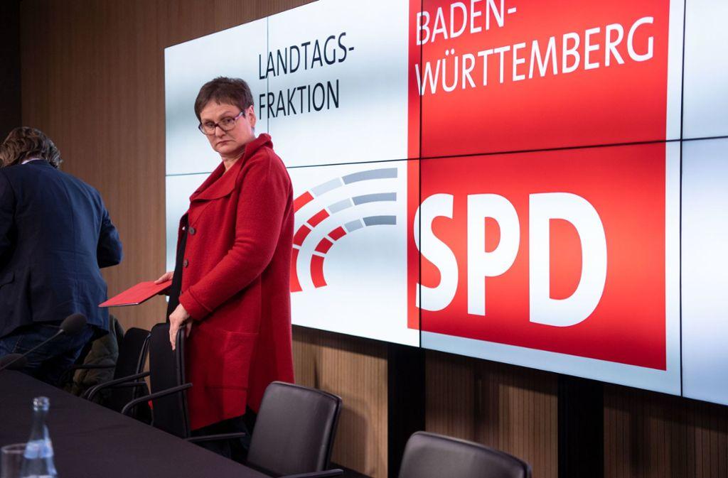 Leni Breymaier räumt ihren Posten als SPD-Landesvorsitzende. Foto: dpa