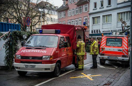Feuerwehr birgt Propangasflasche
