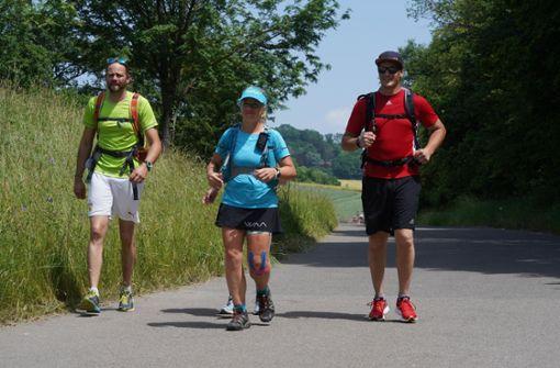 Extremsportlerin Steffi Saul erreicht ihr Ziel Stuttgart