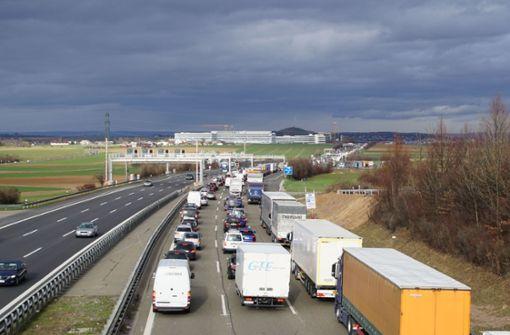 A81 Richtung Heilbronn nach Unfall nur noch teilweise gesperrt