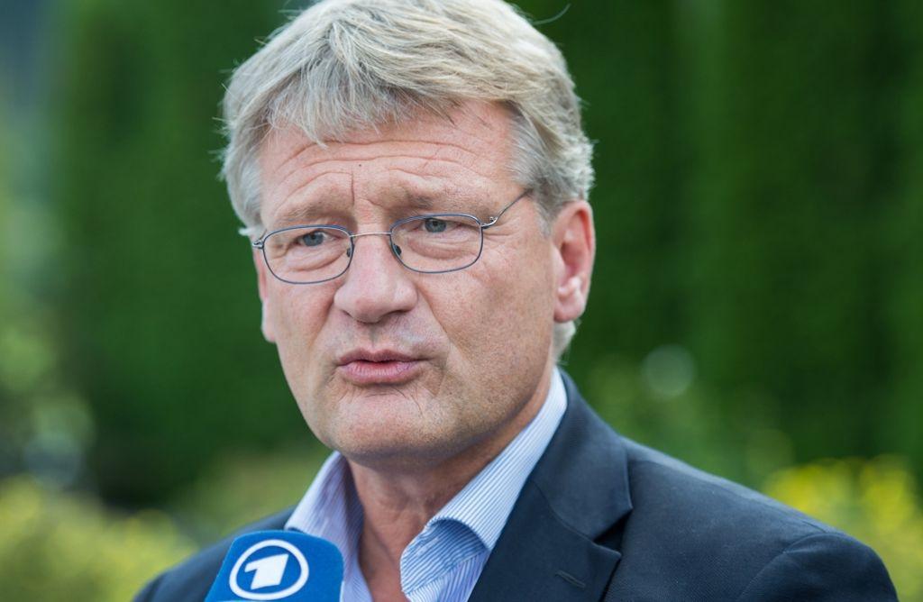 Der AfD-Politiker Jörg Meuthen, Bundessprecher seiner Partei, versucht die zerstrittenen AfD-Fraktionen im baden-württembergischen Landtag wieder zu vereinen. Foto: dpa
