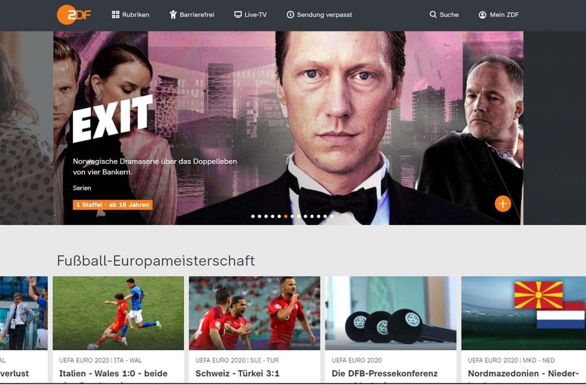 Die Mediathek des ZDF wird künftig auch Inhalte der ARD anbieten – und umgekehrt. Foto: ZDF/Screenshot