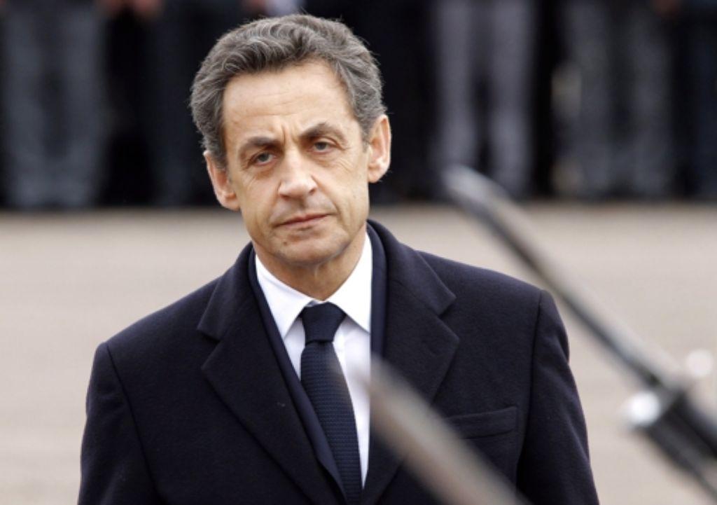 Keine guten Nachrichten für Nicolas Sarkozy. Foto: dpa