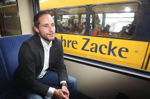 """""""Wer mich kennenlernen will, muss mit mir in die Tiefe gehen"""", sagt Balian Buschbaum auf der Zahnradbahnfahrt nach oben. Foto: Pressefoto Baumann"""