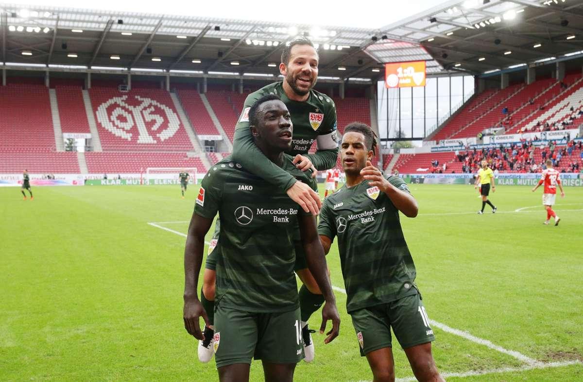 Der VfB Stuttgart kann doch noch in Mainz gewinnen  – und das sogar hoch. Foto: Baumann