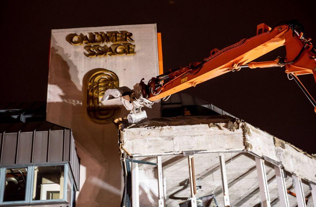 Vor Kurzem ging der Abriss der Gebäude rund um die Calwer Passage in die letzte Phase. Foto: 7aktuell.de/Alexander Haldl