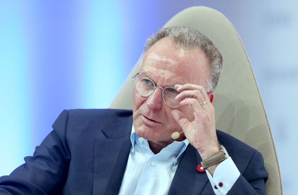 Karl-Heinz Rummenigge warnt vor englischen Verhältnissen in Deutschland. Foto: dpa