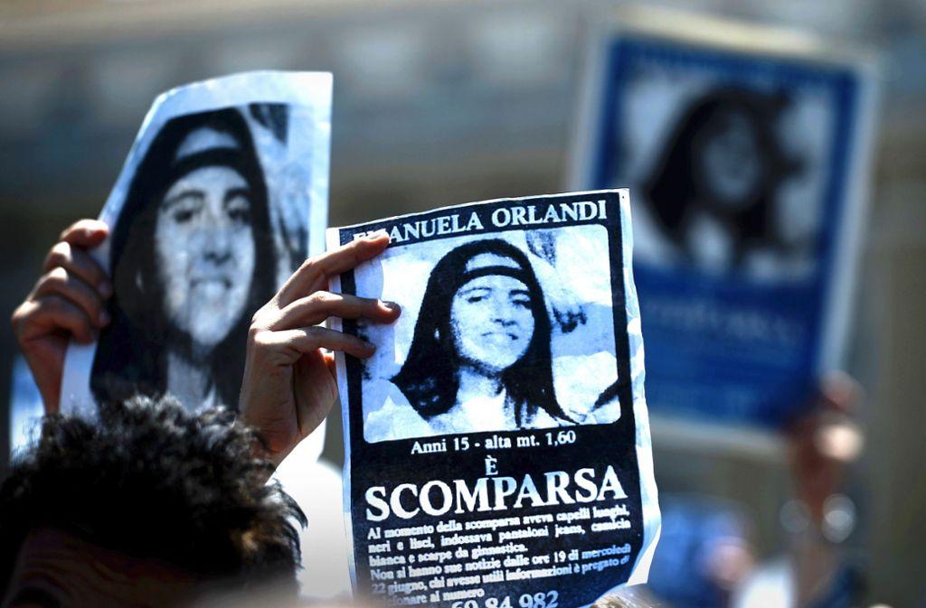 Sie verschwand 1983 spurlos im Vatikan: Die damals 15-jährige Emanuela Orlandi. Foto: AFP