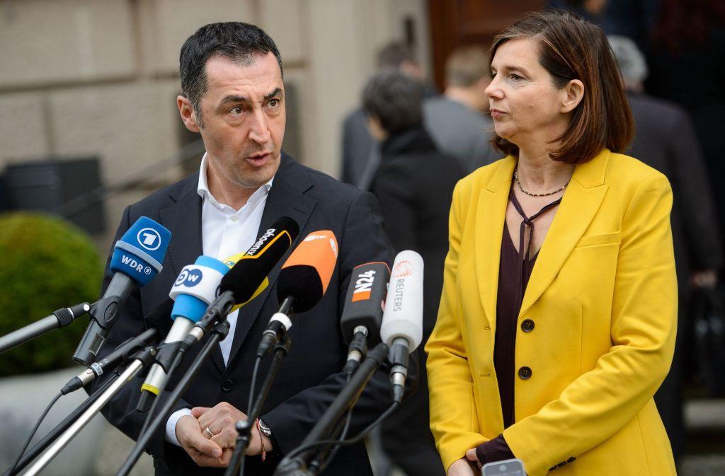 Grünen-Chefs Cem Özdemir und Karin Göring-Eckardt Foto: dpa