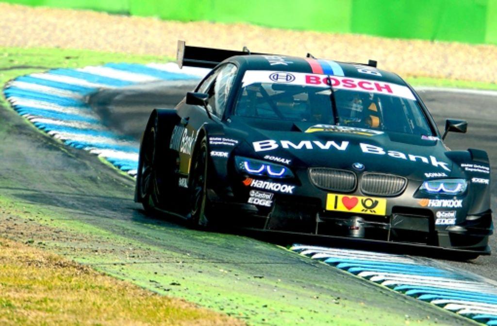 Bruno Spengler testet auf dem Hockenheimring den neuen BMW. Foto: dapd