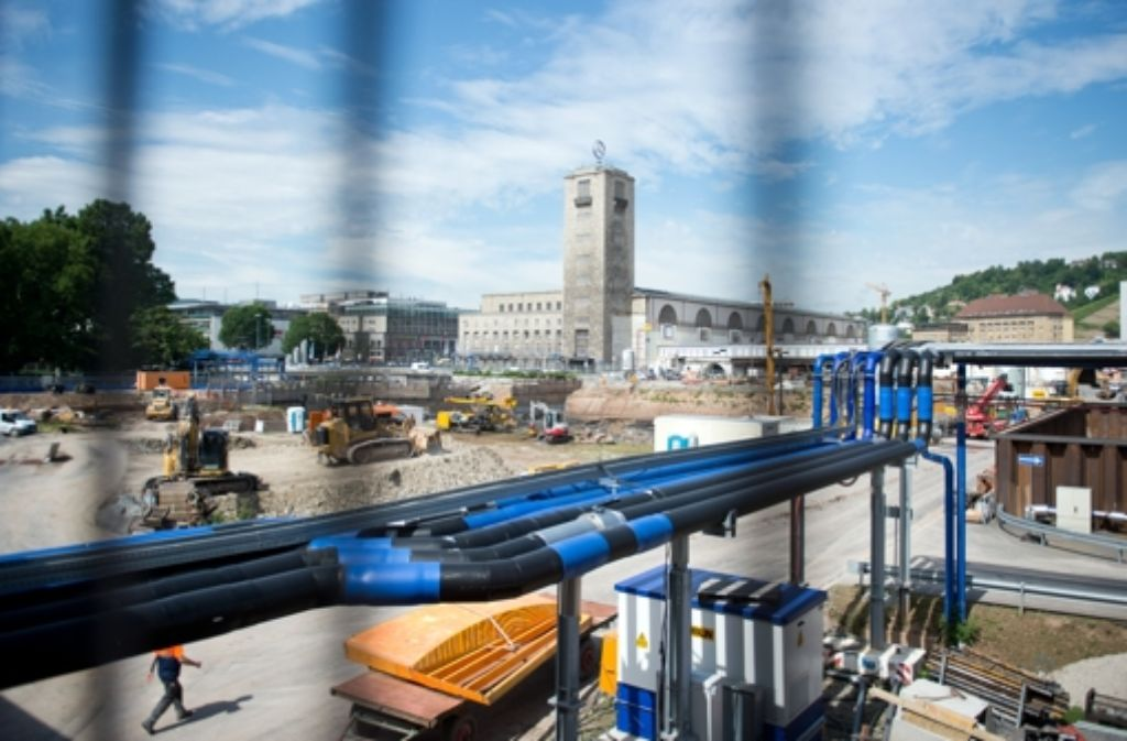 Stuttgart 21 ist längst im Bau – und könnte doch erneut in Frage gestellt werden. Foto: dpa