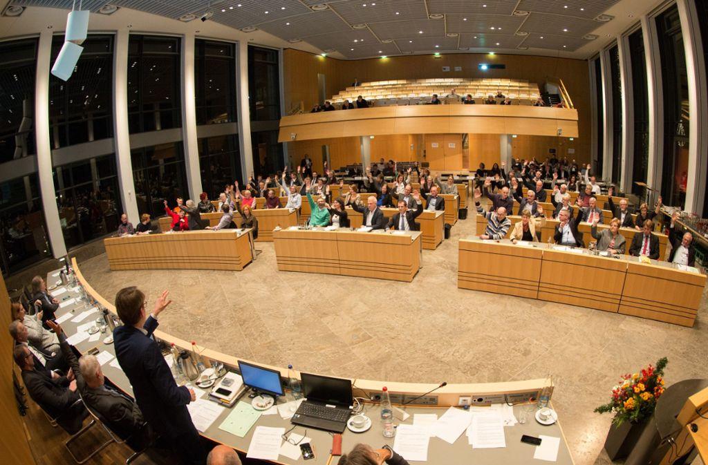 Generaldebatte im Rathaus: Es geht um das Thema Mobilität der Zukunft. Foto: Lichtgut/Leif Piechowski