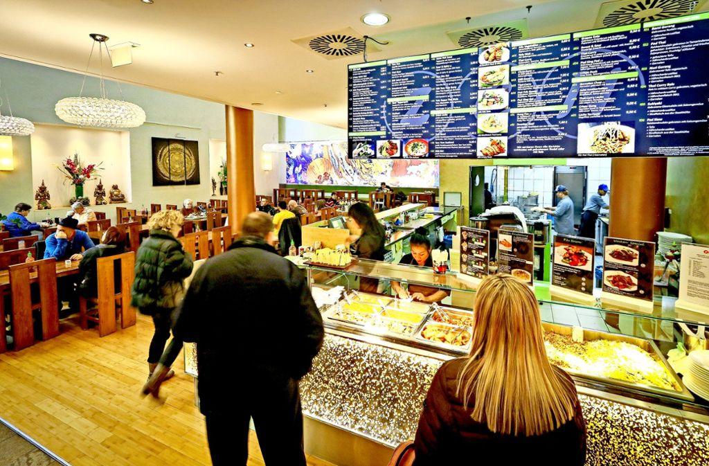 70 Plätze, freundliche Einrichtung, gutes Essen: Das Schnellrestaurant Zen Asia ist im Erdgeschoss der Ludwigsburger Wilhelm-Galerie zu finden. Foto: factum/Granville