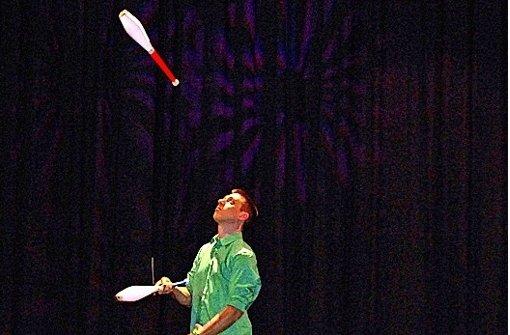 Mit neun Jahren hat Christian Blessing angefangen zu jonglieren. Foto: privat