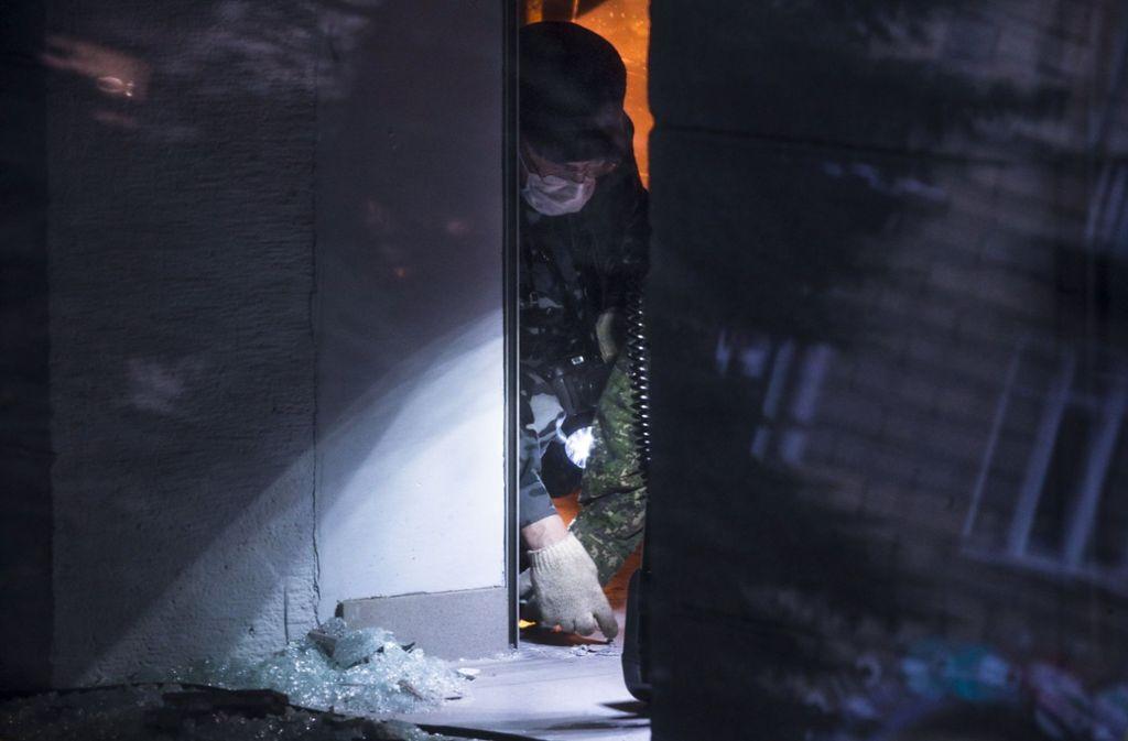 In einem Supermarkt in St. Petersburg war die selbstgebaute Nagelbombe explodiert. Foto: AP