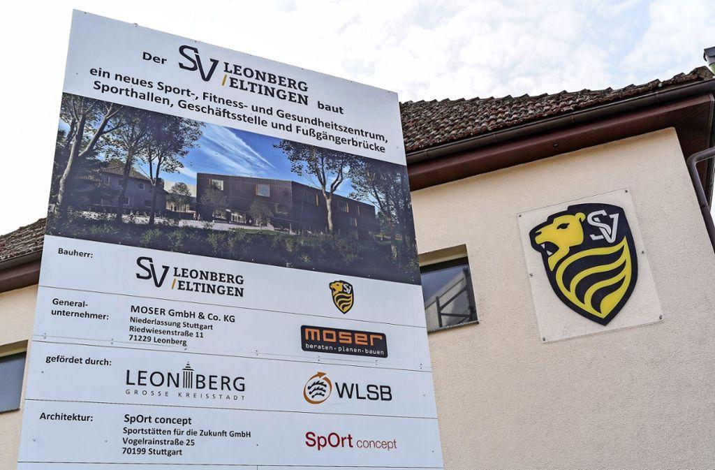 An der Bruckenbachstraße wird gebaut. Hier entsteht das neue Vereinszentrum des SV. Foto: factum/Jürgen Bach