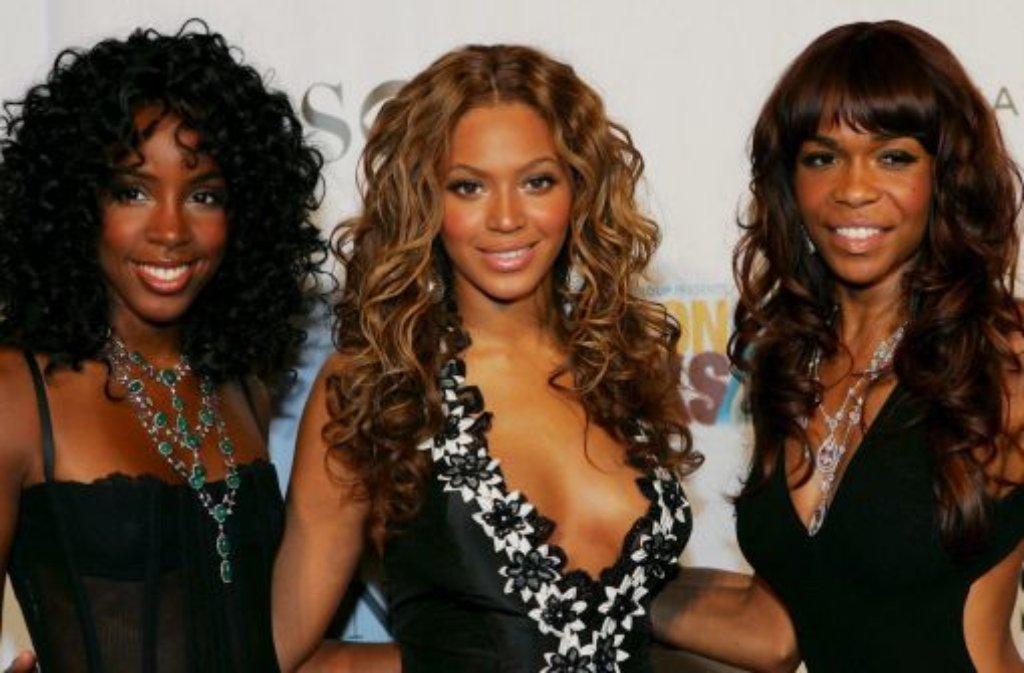 Sängerin Beyoncé (31, Mitte) hat sich nach jahrelanger Pause wieder mit ihren früheren Gefährtinnen von Destinys Child (Kelly Rowland (links) und Michelle Williams) zusammengetan. Foto: dpa