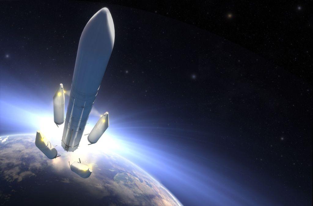 Für das neue Ariane-6-Raketenprogramm wurde ein Darlehen unterzeichnet. Foto: picture alliance / dpa/Airbus