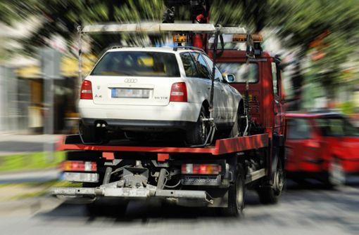 Rekord in Sicht:  4500 Autos abgeschleppt