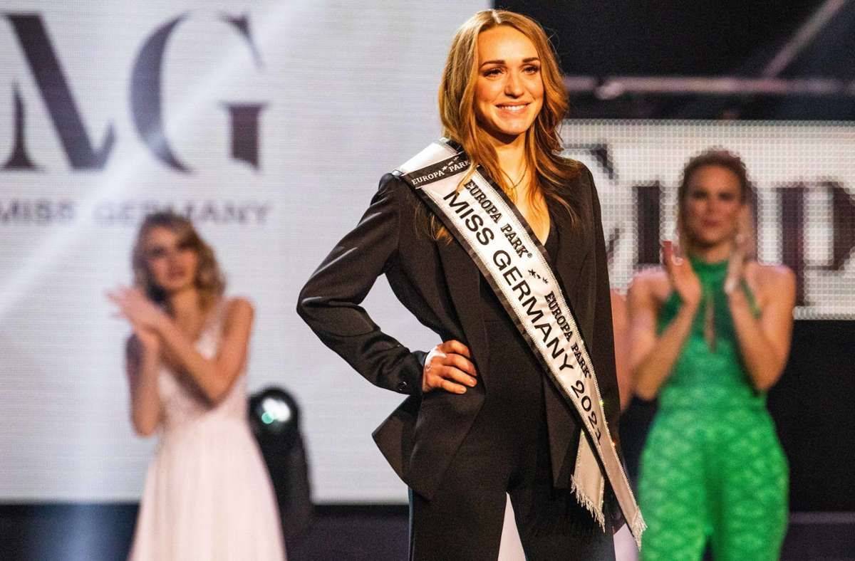 Anja Kallenbach aus Thüringen ist die neue Miss Germany. Foto: dpa/Philipp von Ditfurth