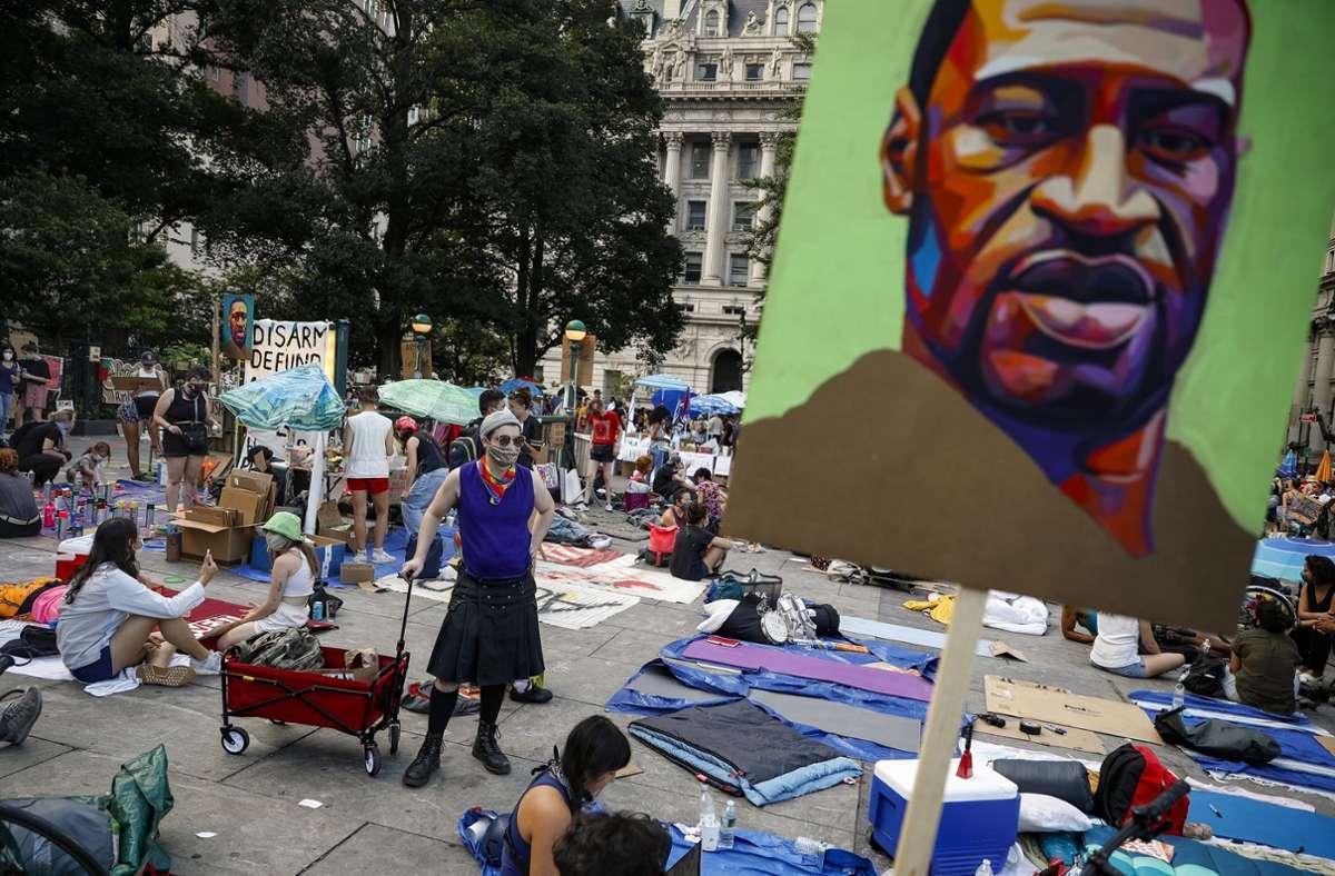 Der Tod von George Floyd hat über die amerikanischen Grenzen hinaus zu Protesten geführt. Foto: dpa/John Minchillo