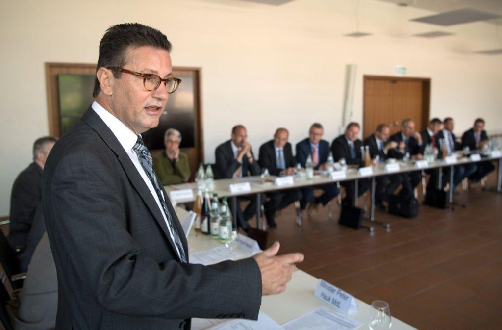 Leicht enttäuscht von den Gipfelteilnehmern: Agrarminister Peter Hauk (CDU) Foto: dpa