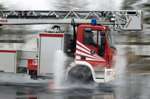 Feuerwehr nach Starkregen im Großeinsatz