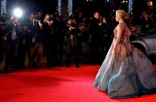 Jennifer Lawrence und Co. trotzen der Londoner Kälte