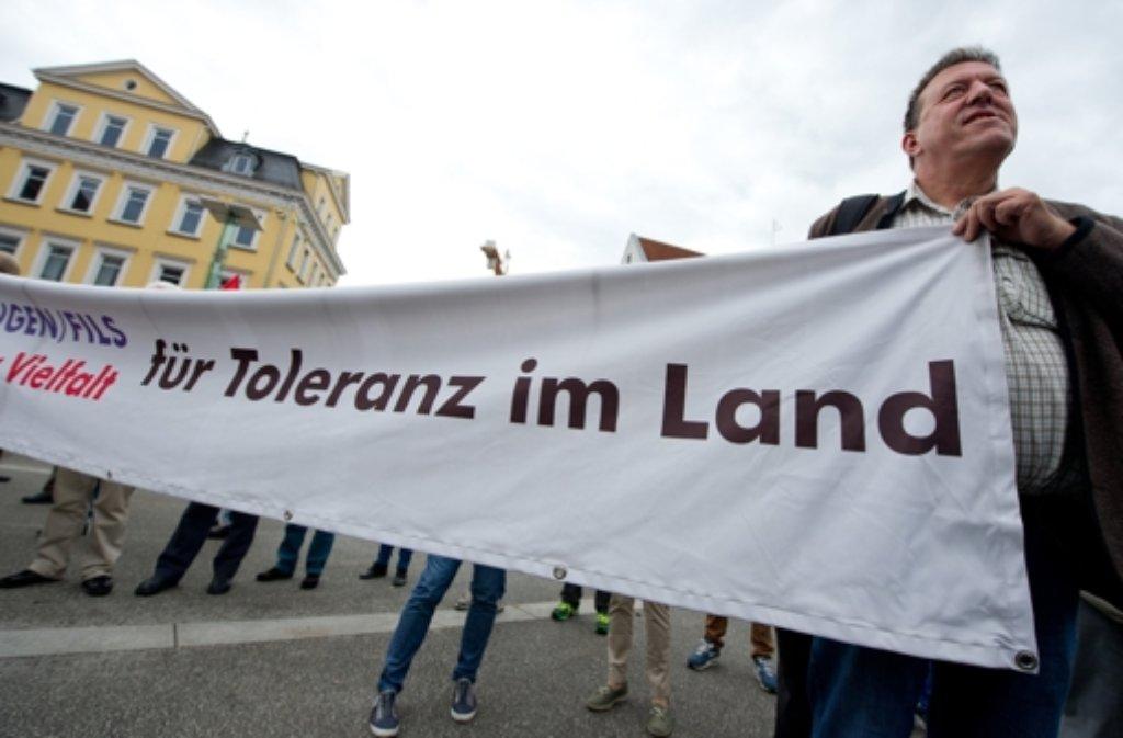 In Göppingen gab es eine Demo gegen Rechtsextremismus. Foto: dpa