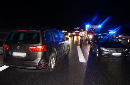 Stau nach Unfall bei Möhringen