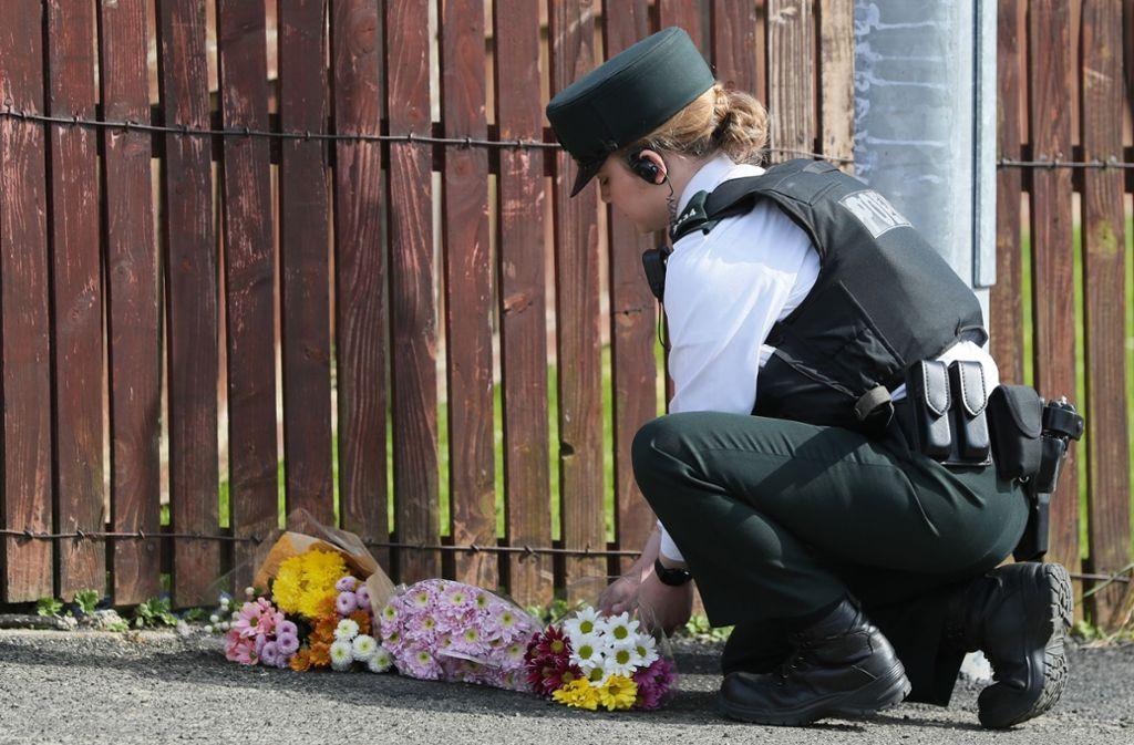 Am Rande der nordirischen Stadt Derry kam es zu gewaltsamen Ausschreitungen. Foto: PA Wire