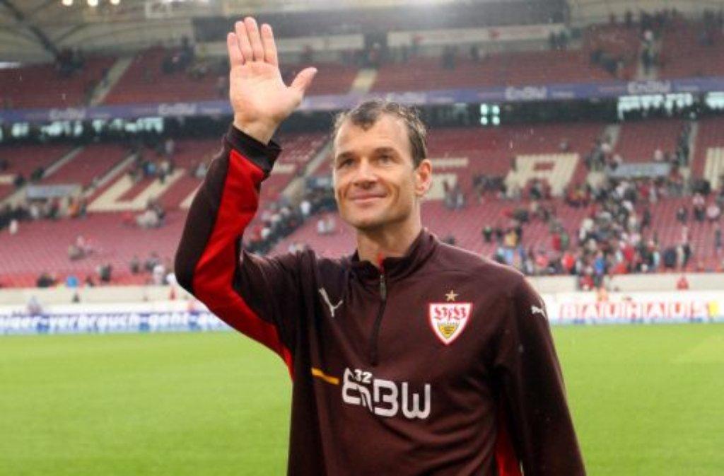 Fußballer Jens Lehmann, von 2008 bis 2010 Torwart des VfB Stuttgart und von ... Foto: dpa