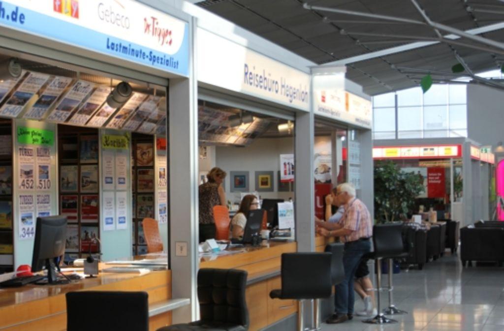 Die Reisebüros am Stuttgarter Flughafen. Foto: Matthias Zahner