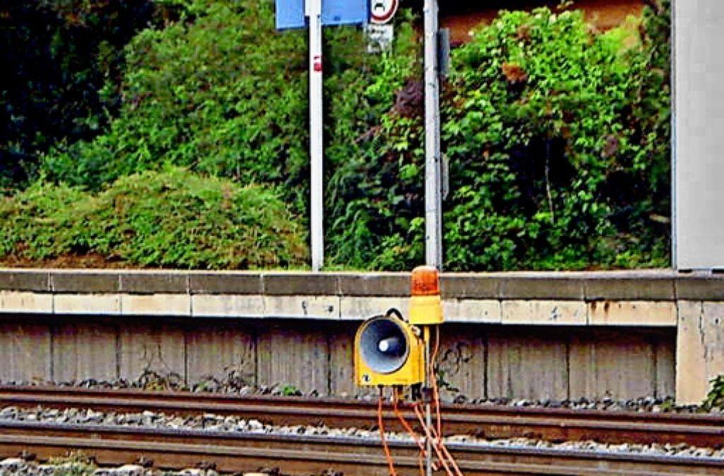 Eines der Signalhörner entlang der Bahntrasse Bad Cannstatt–Waiblingen. Foto: privat