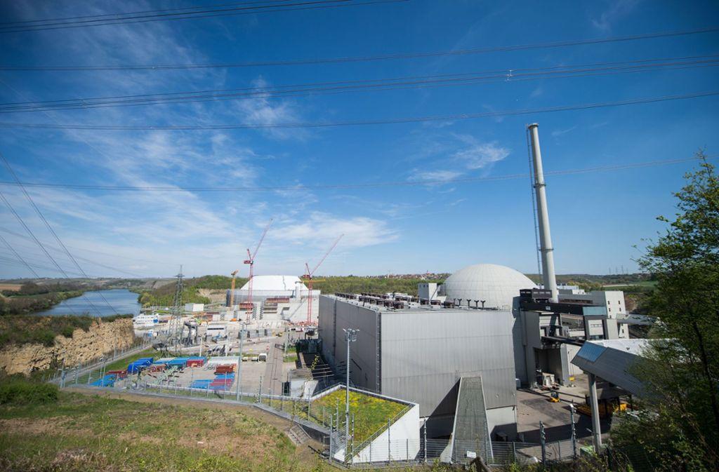 Im April 2017 haben die Abrissarbeiten an Block I des Atomkraftwerks Neckarwestheim begonnen. Foto: dpa